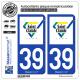 2 Autocollants plaque immatriculation Auto 39 Saint-Claude - Ville