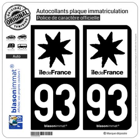 2 Stickers autocollant plaque immatriculation 34 Occitanie LogoType
