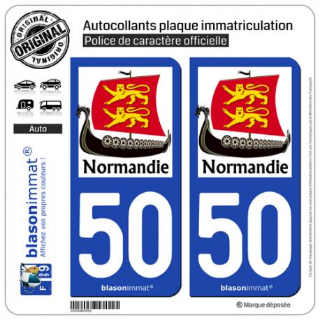 autocollant plaque immatriculation 50 normandie drakkar. Black Bedroom Furniture Sets. Home Design Ideas
