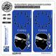 2 Autocollants plaque immatriculation Auto Corsica - Identifiant Européen II
