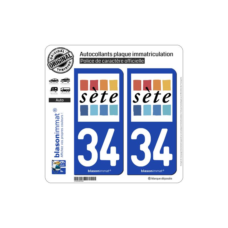 blasonimmat 2 Autocollants Plaque immatriculation Auto 30 Occitanie Logotype