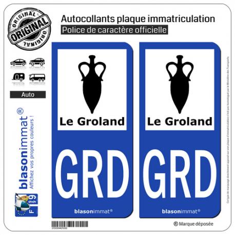 blasonimmat 2 Autocollants Plaque immatriculation Auto 81 Occitanie Armoiries