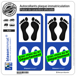 2 Autocollants plaque immatriculation Auto : Pieds-Noirs
