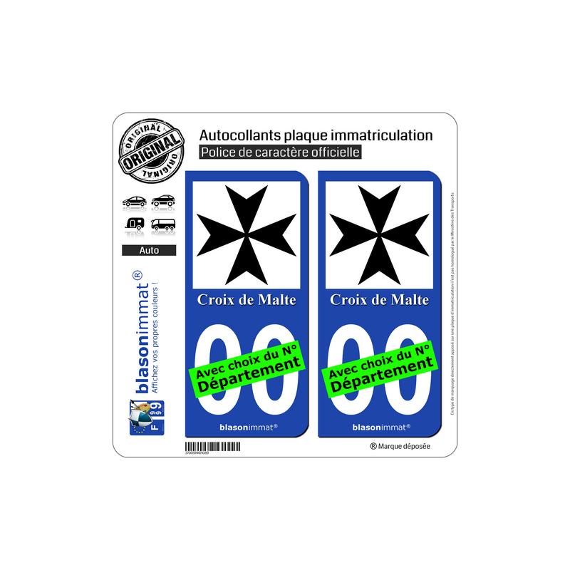 Malte Croix Plaque Immatriculation Autocollant De Pn0wOk