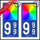 Version autocollant : Angles Droits 9,8 x 4,5 cm (Fond Bleu)