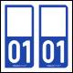 Option Choix du N° Département : 01 - (Ain)