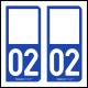 Option Choix du N° Département : 02 - (Aisne)
