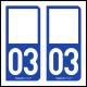 Option Choix du N° Département : 03 - (Allier)