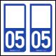 Option Choix du N° Département : 05 - (Hautes-Alpes)