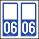 Option Choix du N° Département : 06 - (Alpes-Maritimes)