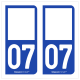 Option Choix du N° Département : 07 - (Ardèche)