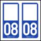 Option Choix du N° Département : 08 - (Ardennes)