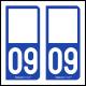 Option Choix du N° Département : 09 - (Ariège)