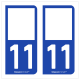 Option Choix du N° Département : 11 - (Aude)
