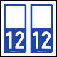 Option Choix du N° Département : 12 - (Aveyron)
