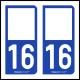 Option Choix du N° Département : 16 - (Charente)