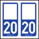 Option Choix du N° Département : 20 - (Corse)