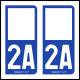 Option Choix du N° Département : 2A - (Corse-du-Sud)