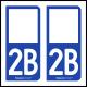 Option Choix du N° Département : 2B - (Haute-Corse)