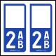 Option Choix du N° Département : 2AB - (Corse)