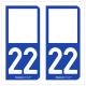 Option Choix du N° Département : 22 - (Côtes d'Armor)