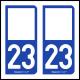 Option Choix du N° Département : 23 - (Creuse)