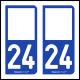 Option Choix du N° Département : 24 - (Dordogne)
