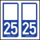 Option Choix du N° Département : 25 - (Doubs)