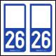 Option Choix du N° Département : 26 - (Drôme)