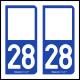 Option Choix du N° Département : 28 - (Eure-et-Loir)