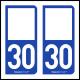 Option Choix du N° Département : 30 - (Gard)