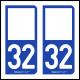 Option Choix du N° Département : 32 - (Gers)