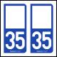 Option Choix du N° Département : 35 - (Ille-et-Vilaine)