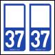 Option Choix du N° Département : 37 - (Indre-et-Loire)