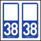 Option Choix du N° Département : 38 - (Isère)