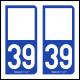 Option Choix du N° Département : 39 - (Jura)