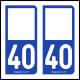 Option Choix du N° Département : 40 - (Landes)