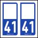 Option Choix du N° Département : 41 - (Loir-et-Cher)