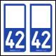 Option Choix du N° Département : 42 - (Loire)