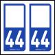 Option Choix du N° Département : 44 - (Loire-Atlantique)