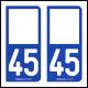 Option Choix du N° Département : 45 - (Loiret)