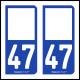Option Choix du N° Département : 47 - (Lot-et-Garonne)