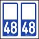 Option Choix du N° Département : 48 - (Lozère)
