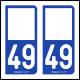 Option Choix du N° Département : 49 - (Maine-et-Loire)