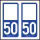 Option Choix du N° Département : 50 - (Manche)