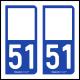 Option Choix du N° Département : 51 - (Marne)