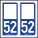 Option Choix du N° Département : 52 - (Haute-Marne)