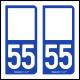 Option Choix du N° Département : 55 - (Meuse)