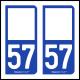 Option Choix du N° Département : 57 - (Moselle)