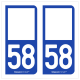 Option Choix du N° Département : 58 - (Nièvre)